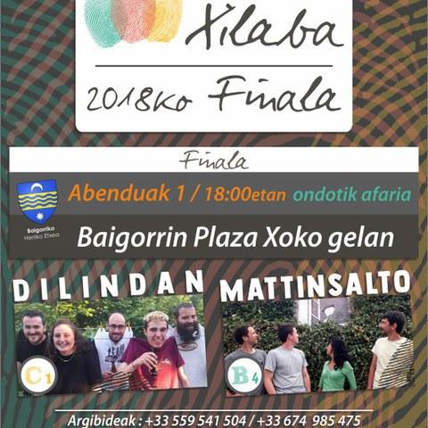 Finale du concours Xilaba à Baigorri