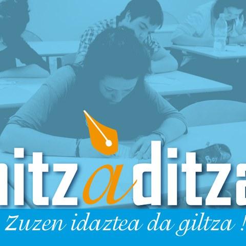 """L'édition 2014 de la dictée en langue basque """"Hitzaditza"""""""