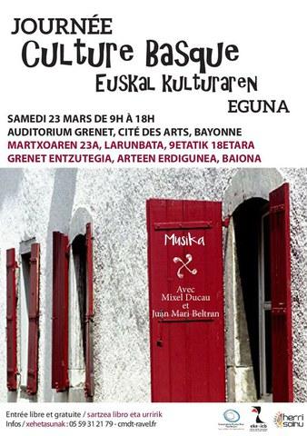 """La """"Journée de la culture basque"""" à la Cité des Arts de Bayonne"""
