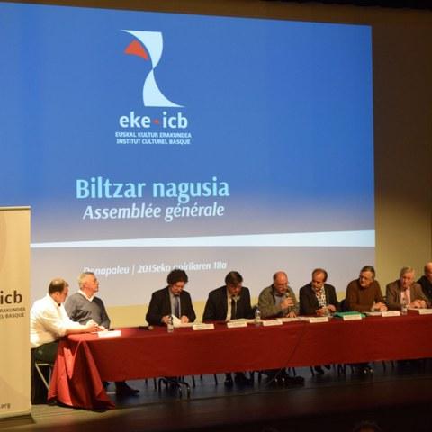 L'assemblée générale ordinaire 2015 de l'Institut culturel basque