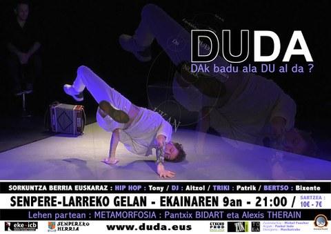"""Le spectacle """"Duda"""" présenté à Saint-Pée"""