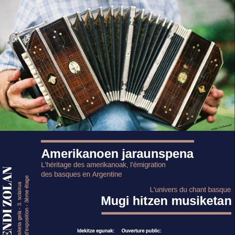 "Les expositions ""Amerikanoen jaraunspena"" et ""Mugi hitzen musika"" à Hendaye"
