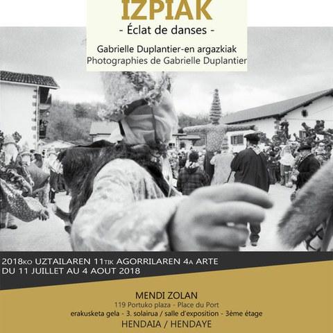 """L'exposition """"Dantza Izpiak"""" à Hendaye"""