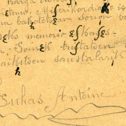 L'ICB a transcrit la lettre du prisonnier de guerre Antoine Suhas, écrite en 1917