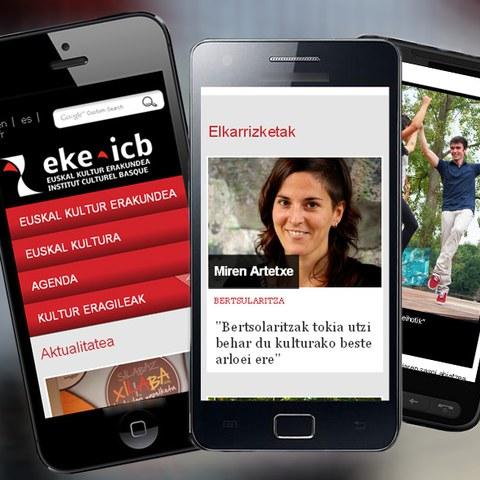 Sur mobiles comme sur tablettes, www.eke.eus !