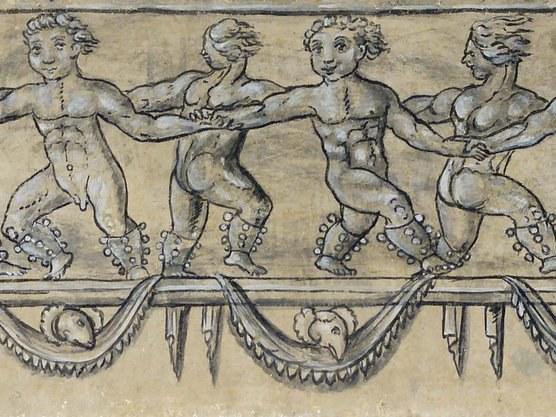 Frises d'enfants danseurs - XVIe siècle - Oriz (Navarre)