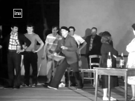 Répétition de pastorale en 1982, avec le metteur en scène Battitta Urruty